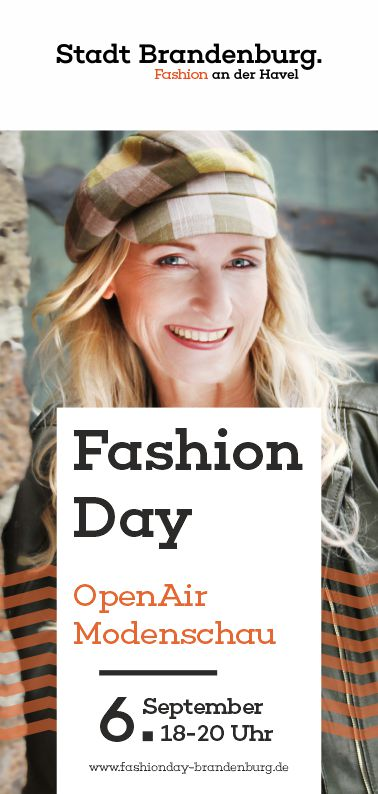 Titelbild vom Flyer Fashion Day 2019 in Brandenburg an der Havel am 6. September